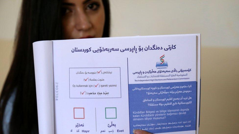 بارزاني يتعهد بالمضي قدما بالاستفتاء على انفصال كردستان عن العراق