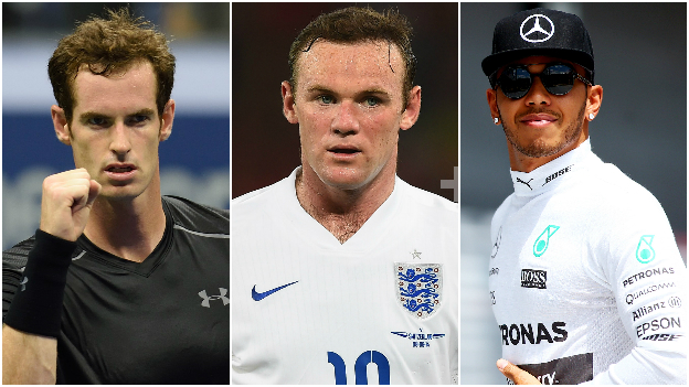 Andy Murray, Wayne Rooney and Lewis Hamilton