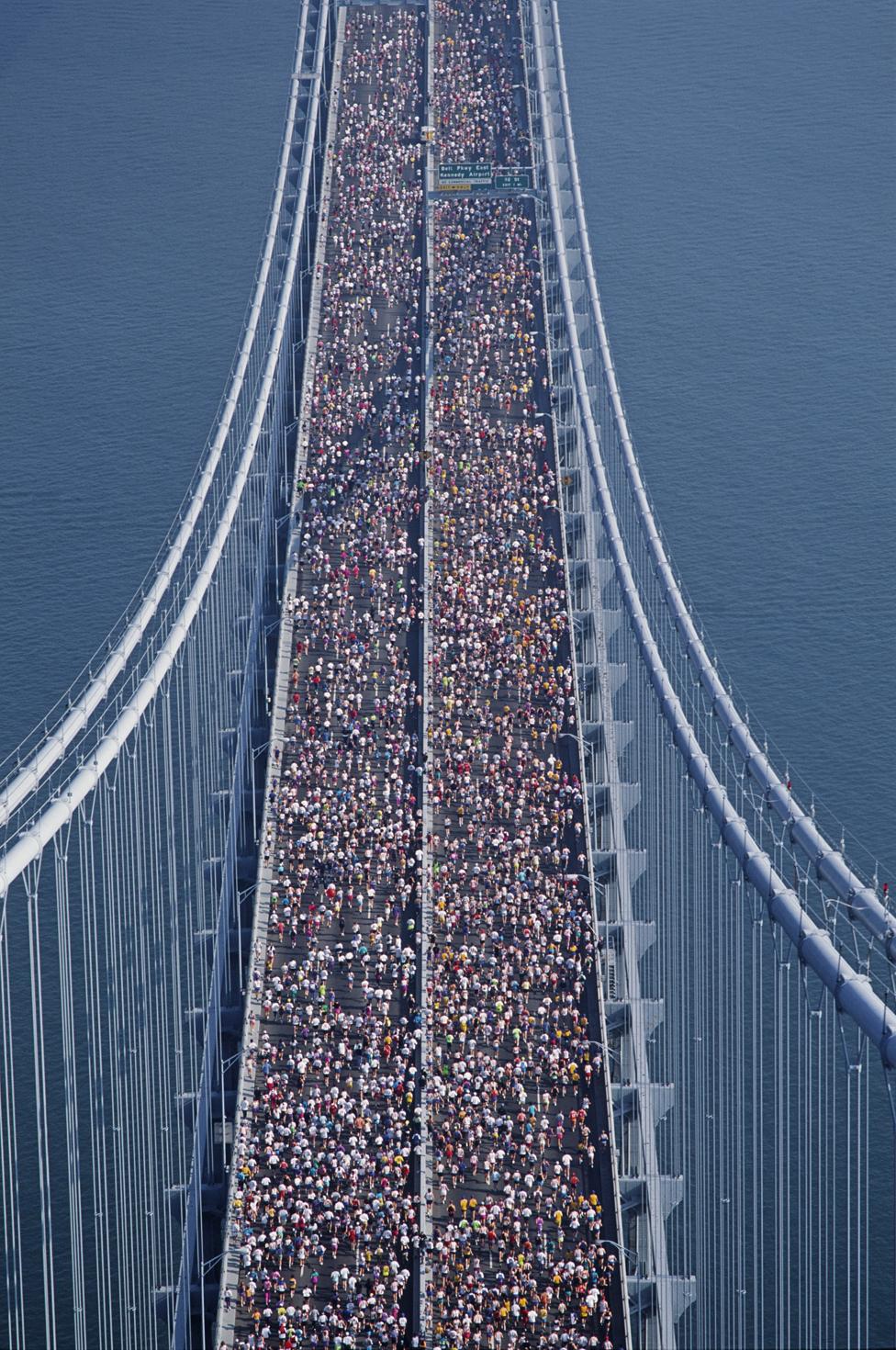 Vista de la maratón de Nueva York.