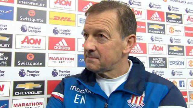 Man Utd 3-0 Stoke: Potters character pleases caretaker boss Eddie Niedzwiecki