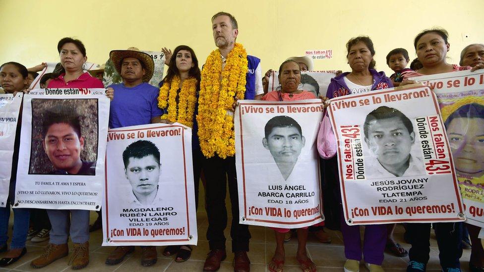Protesta por los normalistas de Ayotzinapa