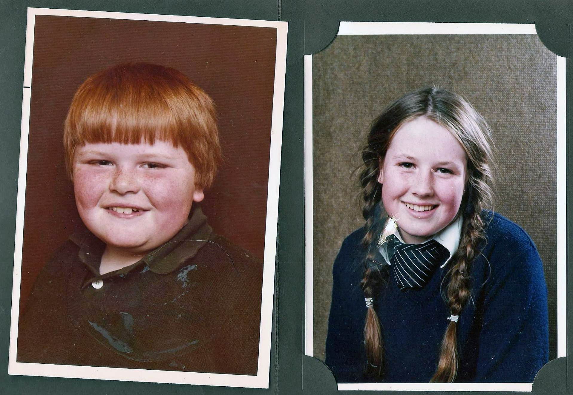 Mark y Jackie Harrison, de niños