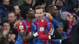 Yanick Bolasie celebrates scoring for Crystal Palace