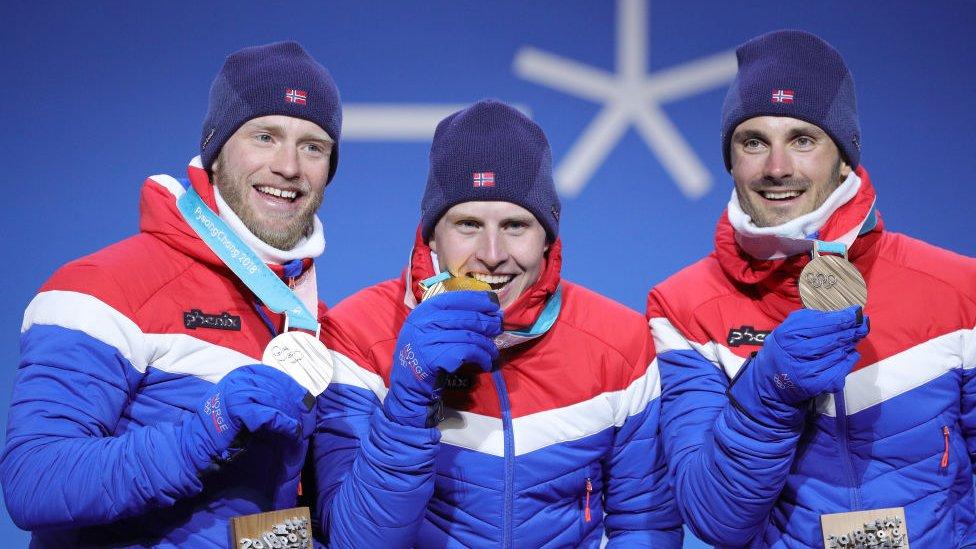 Los tres primeros puestos de la carrera fueron para el equipo noruego.