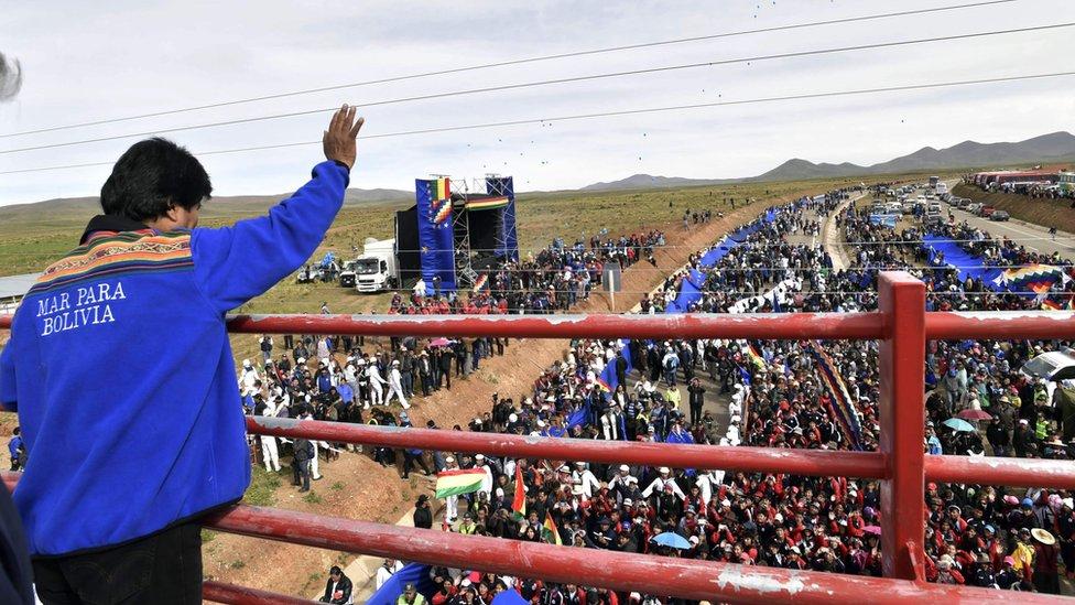 El presidente boliviano Evo Morales en Carcollo.