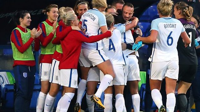 Nikita Parris says her goal celebration with manager Mark Sampson was a statement