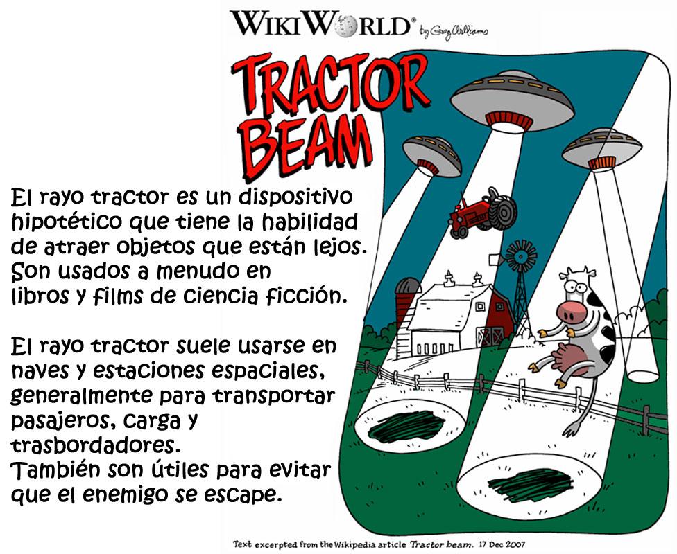 ¿Qué es un rayo tractor? Cortesía de Greg Williams / Wikimedia Foundation.
