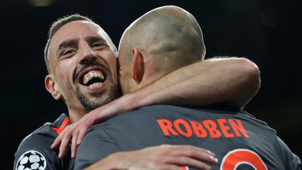 Una pareja de oro fue la que formaron Ribéry y Robben en el Bayern Múnich.