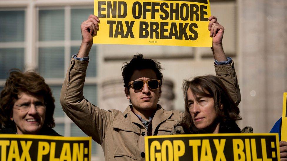 Protesta en Washington contra la reforma fiscal