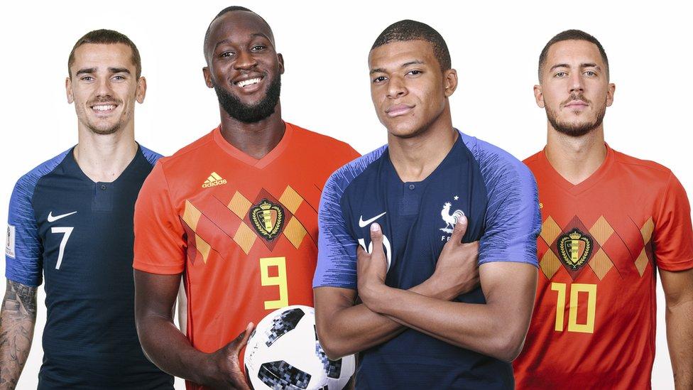 বিশ্বকাপ ২০১৮: বেলজিয়াম-ফ্রান্স সেমিফাইনাল হবে