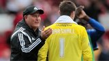 Cardiff boss Russell Slade congratulates David Marshall
