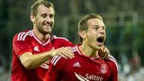 Aberdeen forwards Niall McGinn and Peter Pawlett