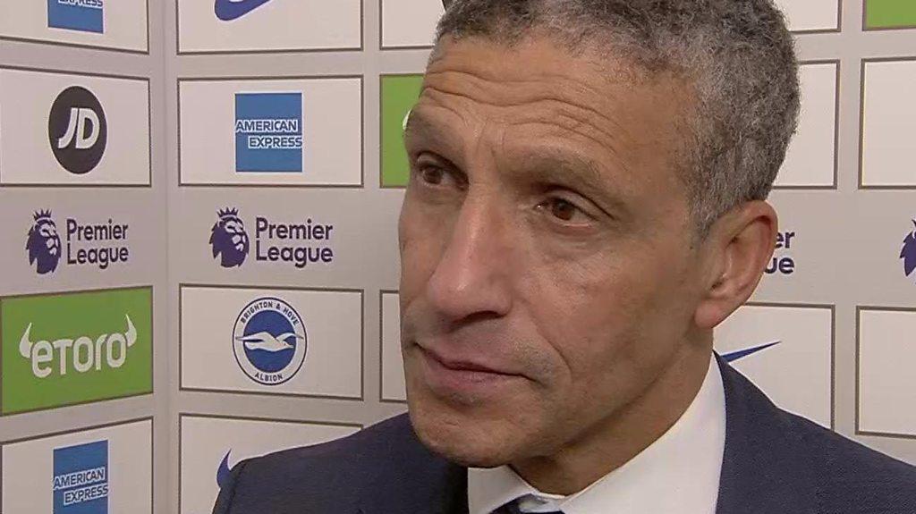 Brighton 0-1 Liverpool: Chris Hughton 'proud' of Albion performance