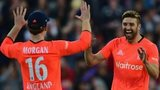 Eoin Morgan and Mark Wood