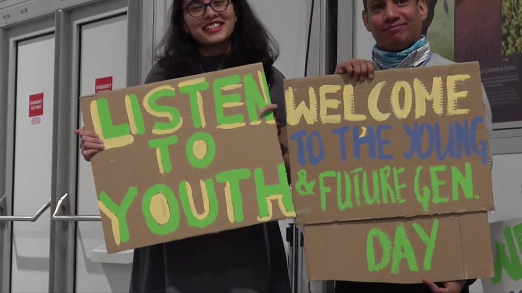 Poland climate summit protest limits anger young activists | BBC