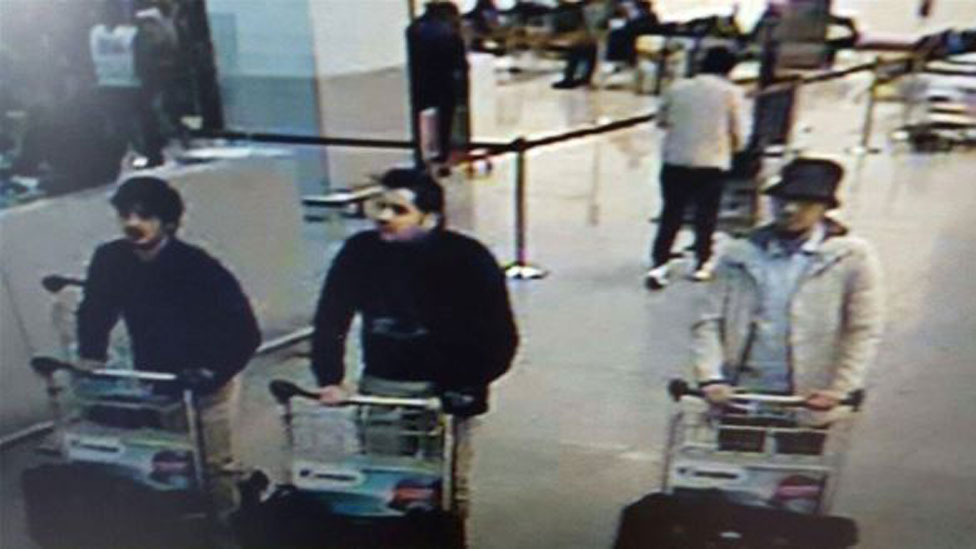 Suspects in Brussels airport