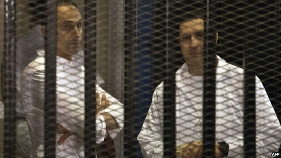 Egypt arrests ex-President Mubarak's sons for embezzlement