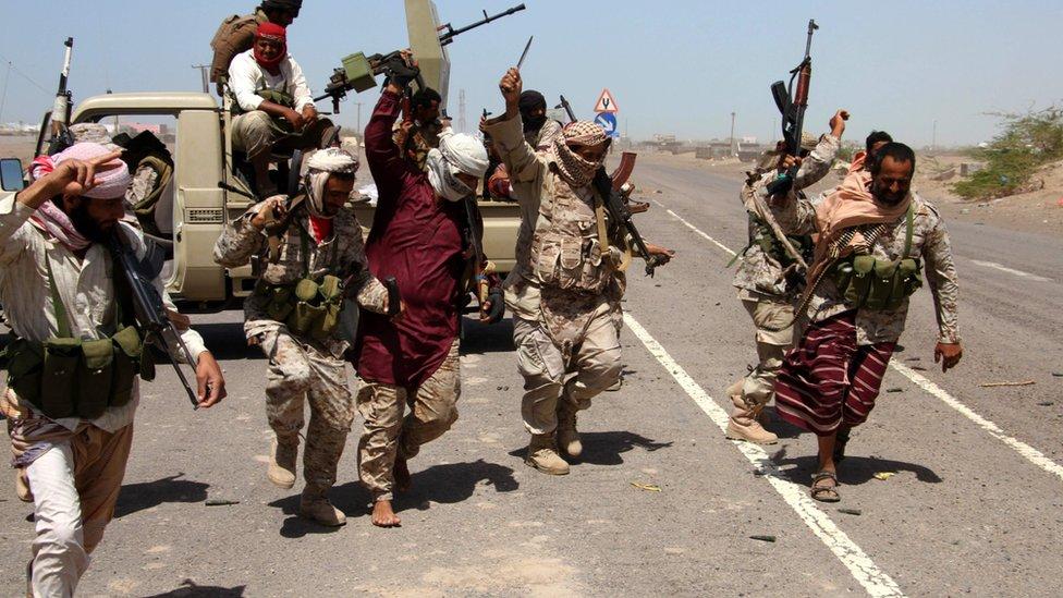 جنود في الجيش الحكومي اليمني
