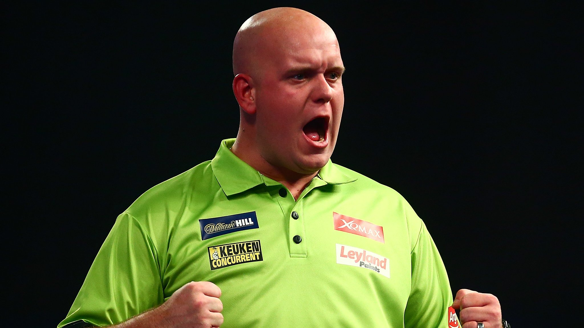 Champions League of Darts: Michael van Gerwen sets up Gary Anderson semi-final