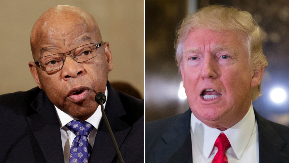 Trump-Lewis row: Democrat inauguration boycott grows