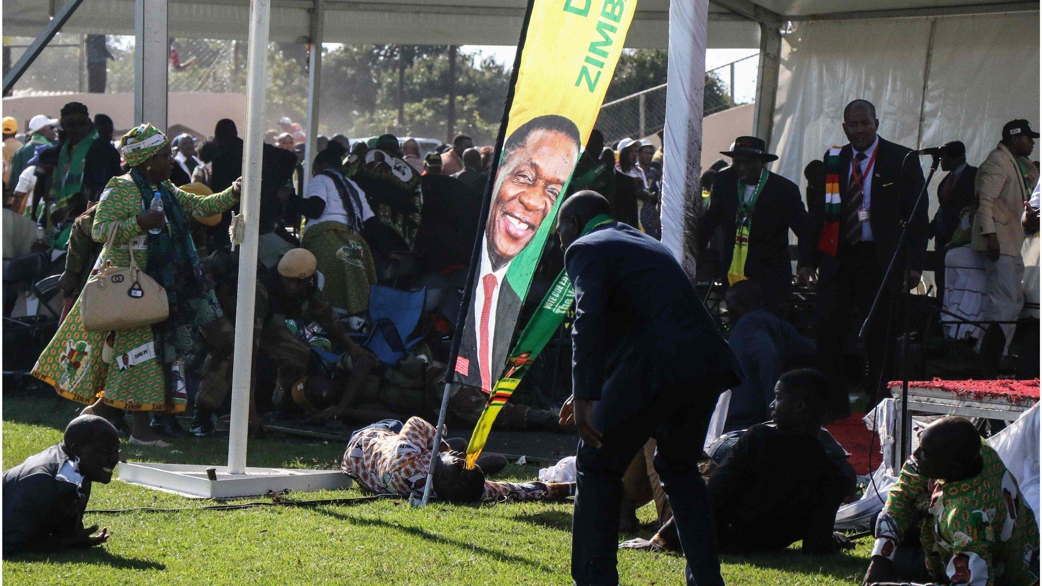 Zimbabwe President Mnangagwa says he was 'inches' from Bulawayo explosion