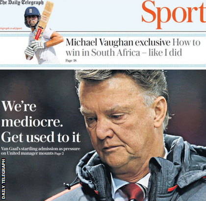 Daily Telegraph backpage