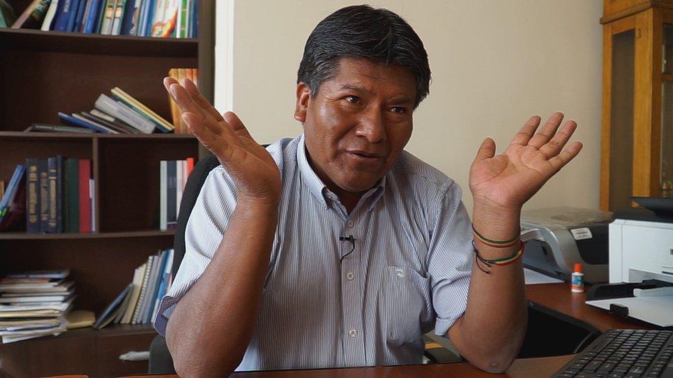 Víctor Hugo Vázquez, gobernador del departamento de Oruro