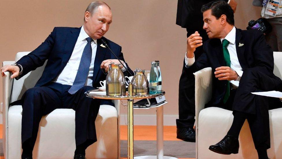 Vladimir Putin y Enrique Peña Nieto.