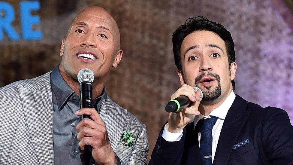 How Miranda got The Rock to sing