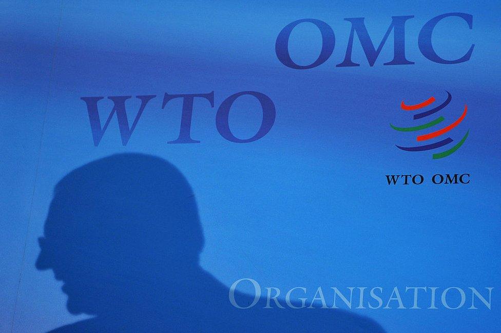 Organización Mundial del Comercio (OMC o WTO, por sus siglas en inglés).