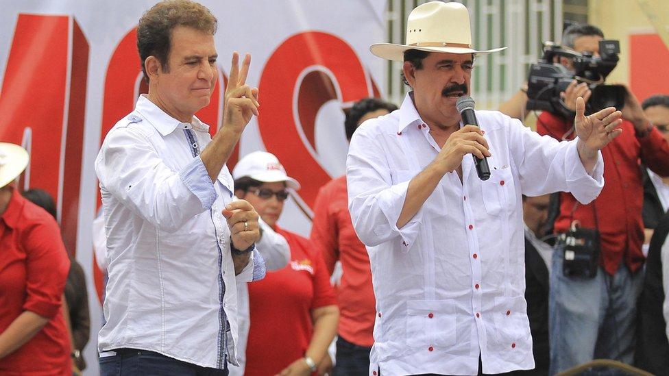 Manuel Zelaya y Salvador Nasralla.