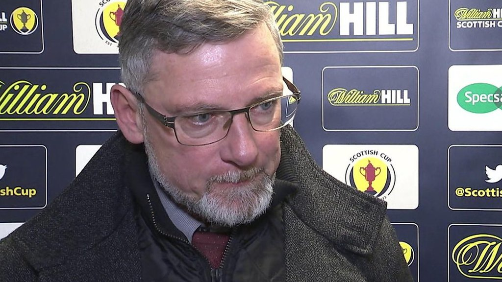 Craig Levein: Hearts manager says Michael Smith's thigh injury is 'sour note'