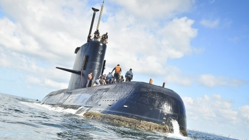 Argentina missing submarine: Search hampered by bad weather