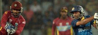 West Indies wicketkeeper Denesh Ramdin and Sri Lanka batsman Tillakaratne Dilshan