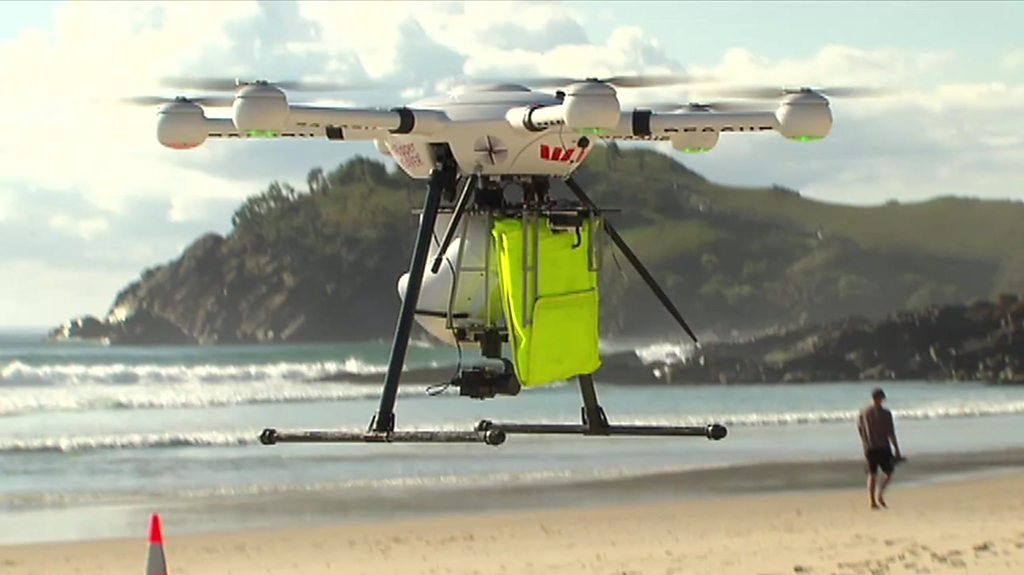 Drones used to spot sharks in Australia