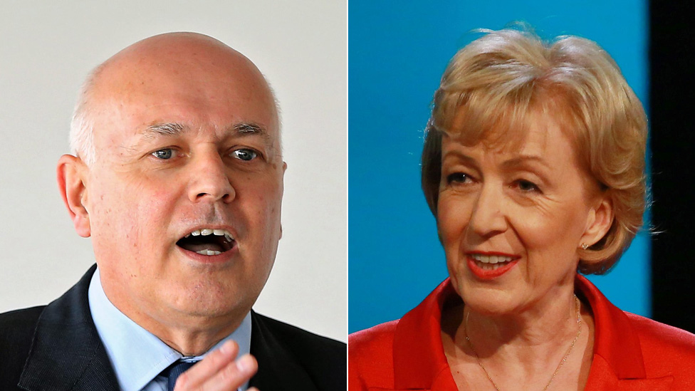 Tory leadership: Iain Duncan Smith backs Andrea Leadsom