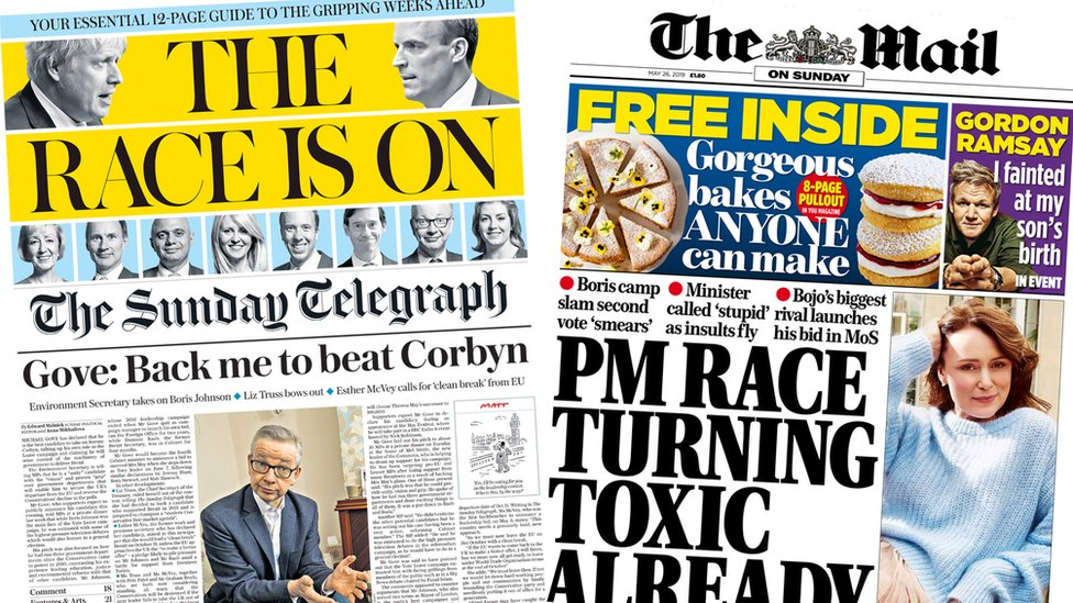 Newspaper headlines: 'The race is on' but is it 'turning toxic'?