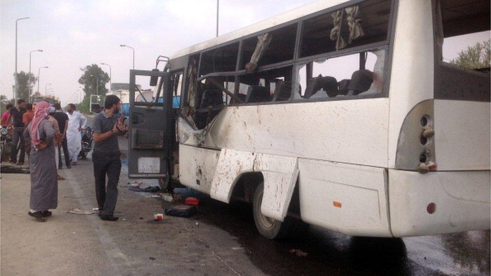 حافلة تعرضت لهجوم مسلحين إسلاميين في سيناء