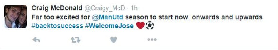 Excited for Jose tweet