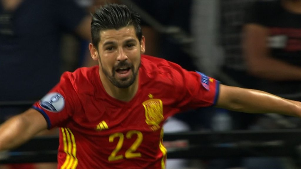New Manchester City signing Nolito scores for Spain at Euro 2016