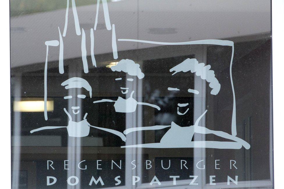Puerta de ingreso al coro en Alemania