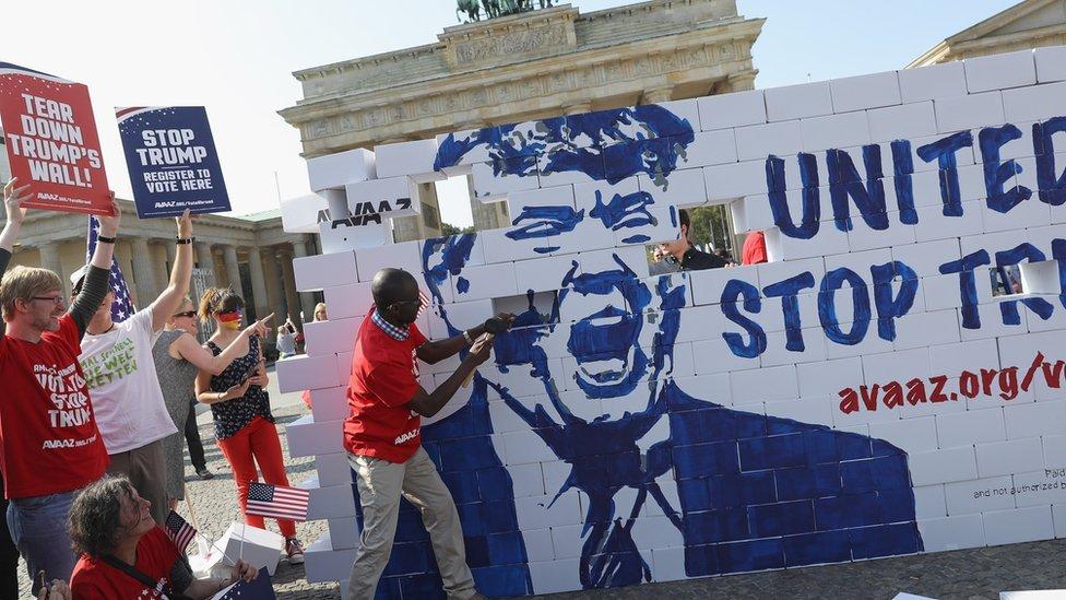 Donald Trump wall protest