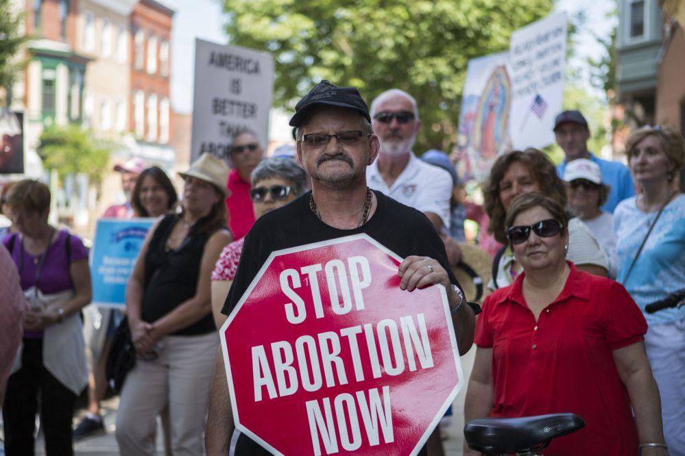 Anti-abortion placard