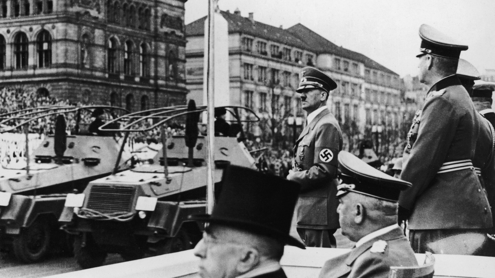 Adolf Hitler giving a speech