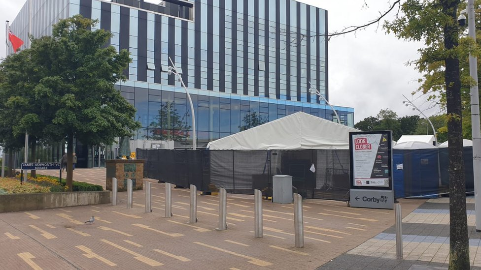 Corby Cube and testing station