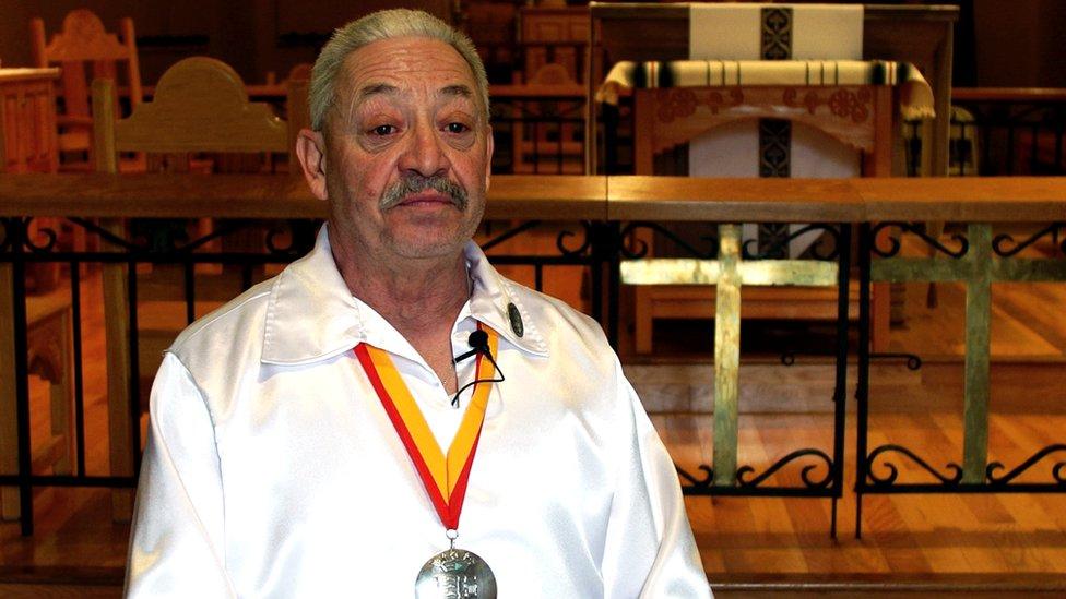Gary Delgado, presidente de los Caballeros de Vargas.