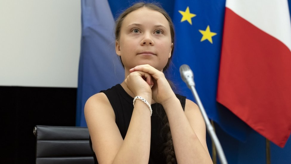 Greta delivered a speech at France's parliament in Paris in July