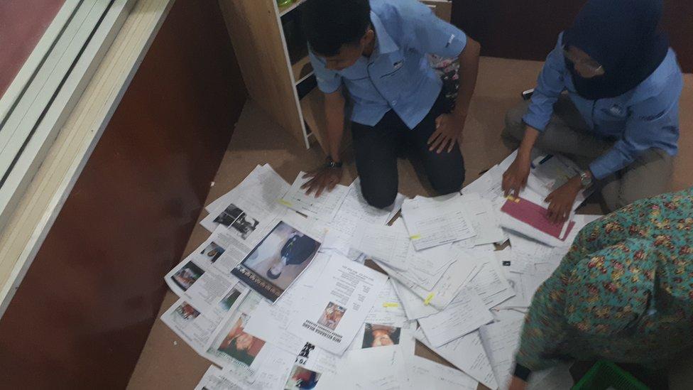 Data orang hilang akibat gempa Palu.