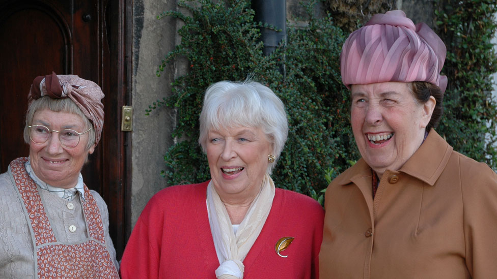 Juliette Kaplan as Pearl, June Whitfield as Nelly, and Kathy Staff as Nora Batty in Christmas special 2005