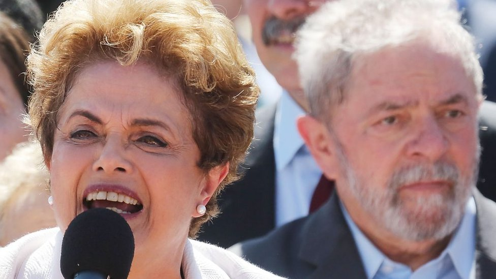 Dilma Rousseff y Lula da Silva en 2016.